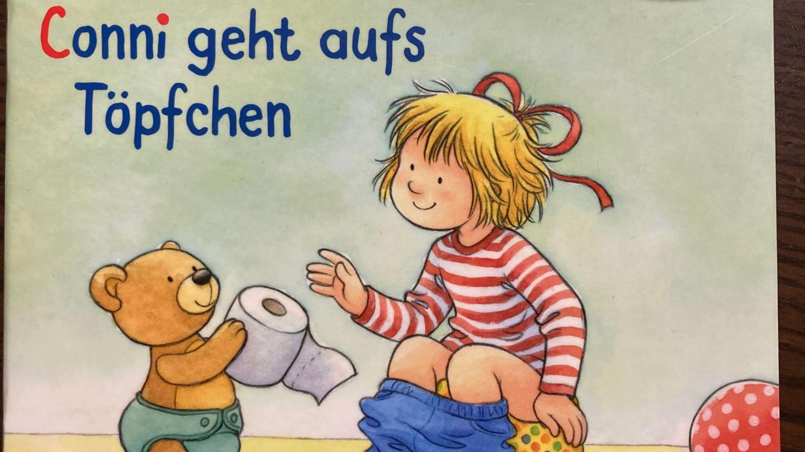 Titelbild von dem Kinderbuch: Conni geht aufs Töpfchen