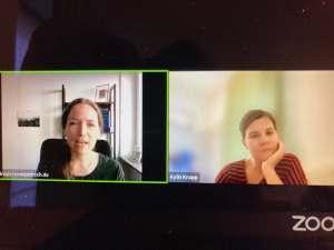 Svenja Hirsch und Aylin Knapp in einem Online Call